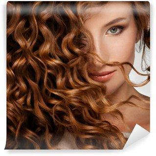 Vinylová Fototapeta Žena s vlasy Krásné