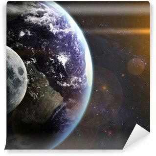 Fototapeta Winylowa Ziemia w przestrzeni. Elementy tego zdjęcia dostarczone przez NASA