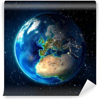 Fototapeta Winylowa Ziemia w przestrzeni - w tle Universe - Europe
