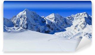 Vinylová Fototapeta Zimní hory, panorama - Italské Alpy