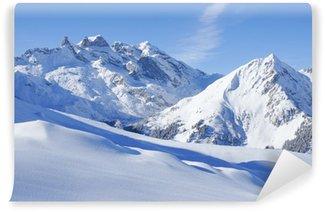 Vinylová Fototapeta Zimní krajina v Alpách