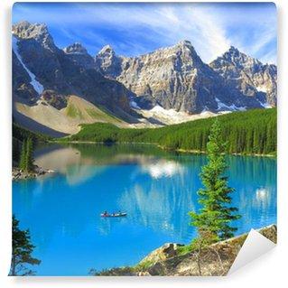 Vinylová Fototapeta Živé odstíny jezera Moraine v Banff National Park, Kanada