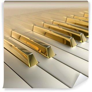 Vinylová Fototapeta Zlatá klavír
