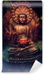 Vinylová Fototapeta Zlatá socha Buddhy