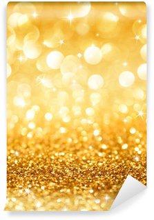 Vinylová Fototapeta Zlaté třpytky a hvězdy na pozadí vánoční vertikálních