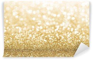 Vinylová Fototapeta Zlaté třpytky rozostření pozadí s kopií vesmíru