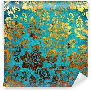 Fototapeta Vinylowa Złoty kolor niebieski rocznika tle