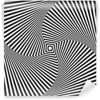 Fototapeta Winylowa Złudzenie optyczne kwadrat tła sztuki