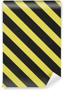 Vinylová Fototapeta Žlutá a černá diagonální pruhy