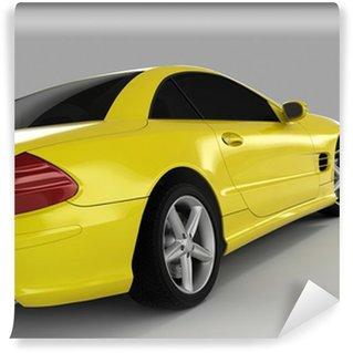 Vinylová Fototapeta Žlutá sportovní auto
