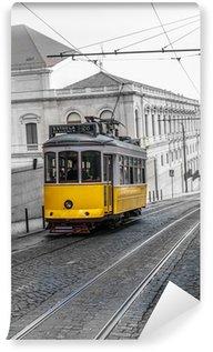 Vinylová Fototapeta Žlutá tramvaj, Lisabon, Portugalsko