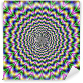 Fototapeta Winylowa Zmarszczka Cut Psychedelic impulsu Alternatywne Kolor