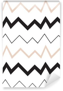 Fototapeta Zmywalna Bezproblemowa geometryczny wzór. Minimalistyczny nowoczesny styl. Abstrakt góry. Zygzak. Jest czarno biały i nagie kolory.