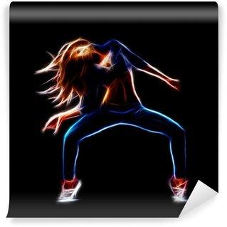 Fototapeta Zmywalna Kobieta tancerz hip-hop
