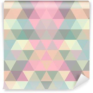 Fototapeta Zmywalna Mozaiką w tle trójkąta. geometryczne tle