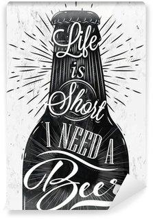 Fototapeta Zmywalna Plakat rocznika piwo