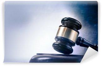 Fototapeta Zmywalna Pojęcie prawa ekran obraz młotek prawna