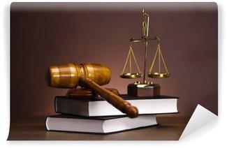 Fototapeta Zmywalna Prawo i koncepcja sprawiedliwości, młotek
