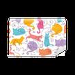 Fototapeta Zmywalna Wektor kolorowe koty bezszwowe tło wzór. uroczy, ręcznie