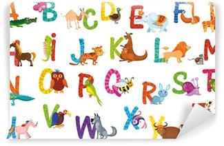 Vinylová Fototapeta Zvířata abeceda