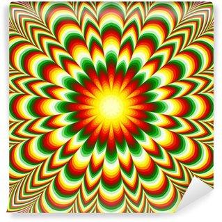 Fototapeta Winylowa Żywy kwiat mandala efekt optyczny iluzji