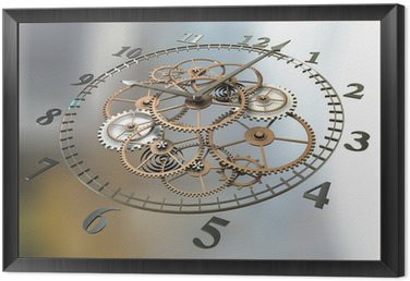 3d Clock and Cogs
