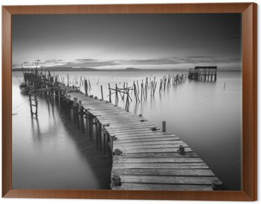 Framed Canvas A peaceful ancient pier