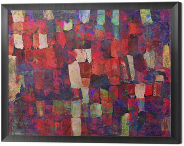 Abstract art painting Framed Canvas