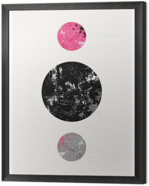 Framed Canvas Abstract Geometric Composition