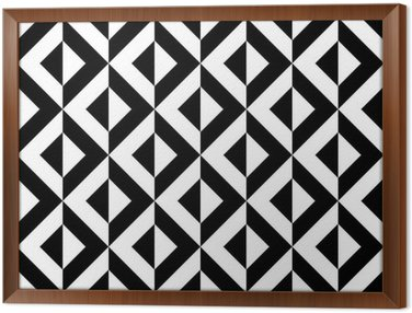Framed Canvas Abstract geometric pattern