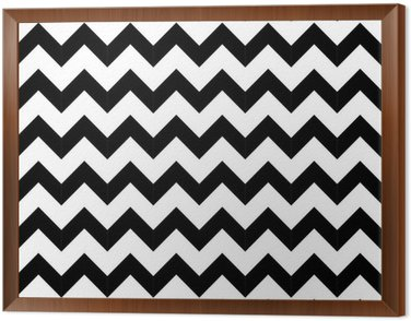 Framed Canvas Abstract geometric zigzag seamless pattern. vector