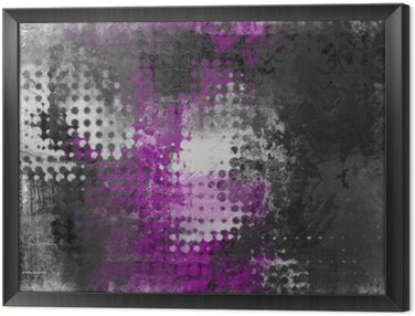 Framed Canvas Abstract grunge background with grey, white and purple
