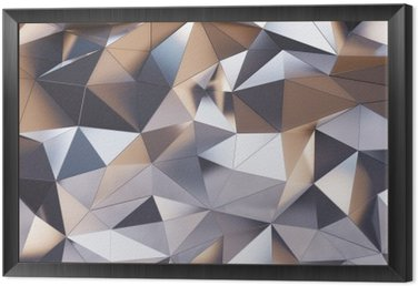Framed Canvas Abstract metal wall