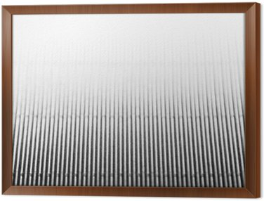 Framed Canvas Abstract minimalistic white striped background with vertical lines and header. Copy space . The texture.