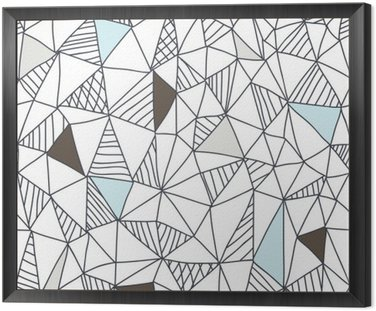 Framed Canvas Abstract seamless doodle pattern