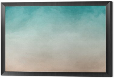 Framed Canvas Abstract Watercolor Texture