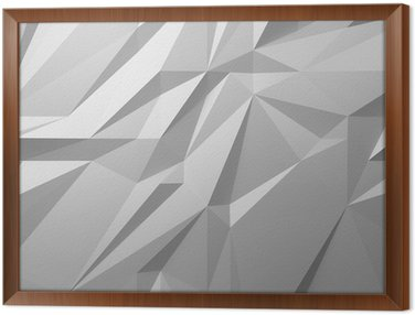 Framed Canvas abstract white background low poly