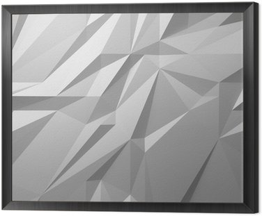 abstract white background low poly Framed Canvas