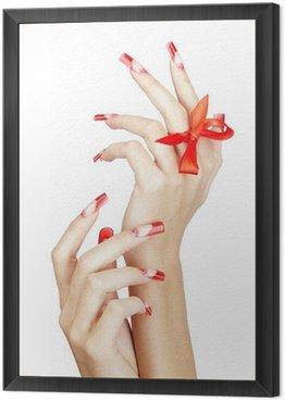 Framed Canvas Acrylic nails manicure