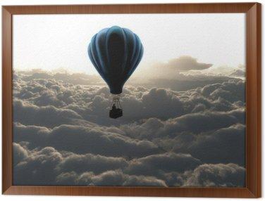 Framed Canvas air balloon on sky