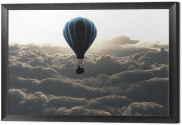 Framed Canvas air balloon on sky