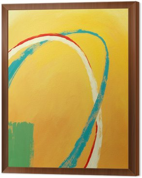 Framed Canvas an abstract painting
