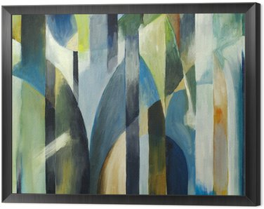 an abstract painting Framed Canvas