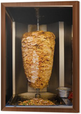 Arabic Chicken Spit Cooking Shawarma Meat
