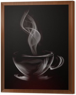 Artistic Illustration Smoke Cup Of Coffee on black
