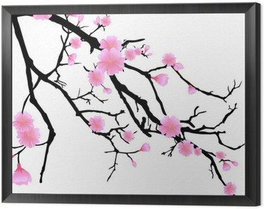Ast mit Kirschblüten