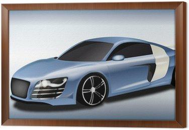 Auto Sportiva metallizzata Celeste