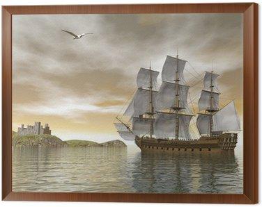 Framed Canvas Back home - 3D render