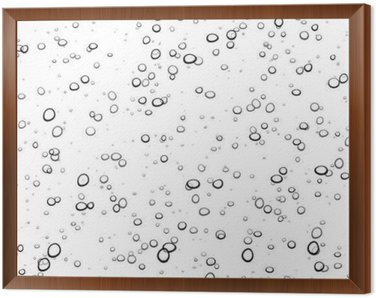 Background with bubbles. Framed Canvas