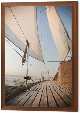 Framed Canvas Baltic Sea on Sailing
